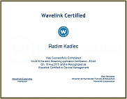 Wavelink Streaming Applications Certificate